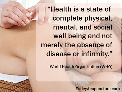 Health is a state of complete physical, mental, and social well being and not merely the absence of disease or infirmity.